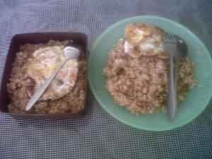 Awalnya nasi gorengku seperti ini...