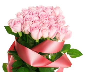pink-rose-flower-red-ribbon-flowers